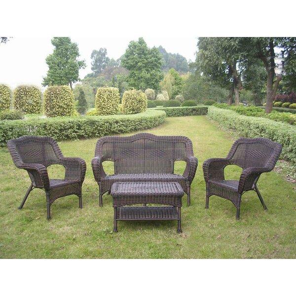 Narron 4 Piece Rattan Sofa Seating Group by Lark Manor