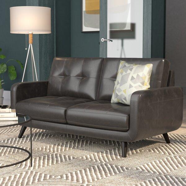 Pinehurst Genuine Leather Loveseat By Langley Street™