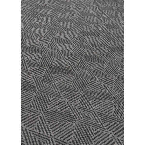 Pavillion Hand-Woven Wool Charcoal Area Rug by Exquisite Rugs