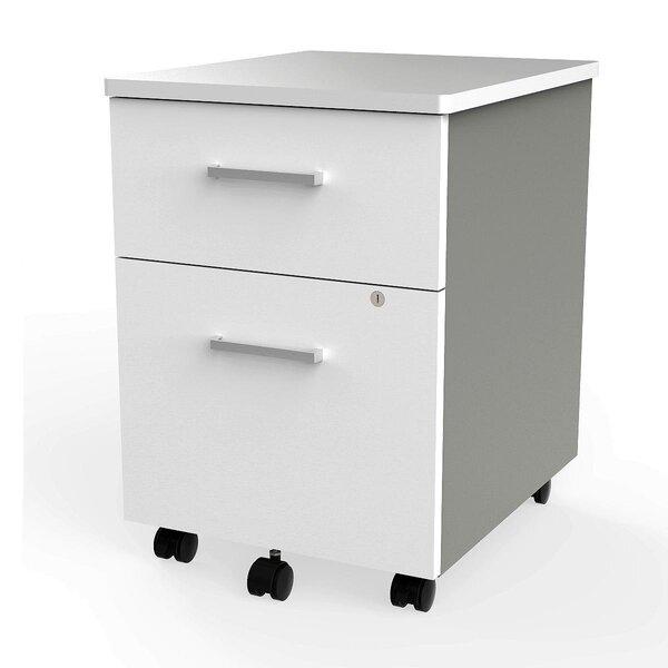 Lampert 2-Drawer Mobile Vertical Filing Cabinet by Symple Stuff