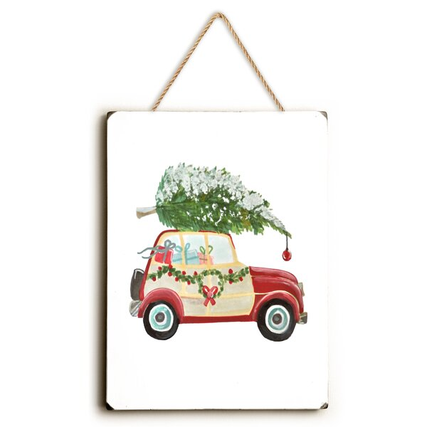 Christmas Tree on Car  Design Painting Print by Charlton Home