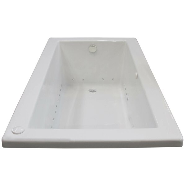 Guadalupe 60 x 30 Rectangular Air Jetted Bathtub with Drain by Spa Escapes