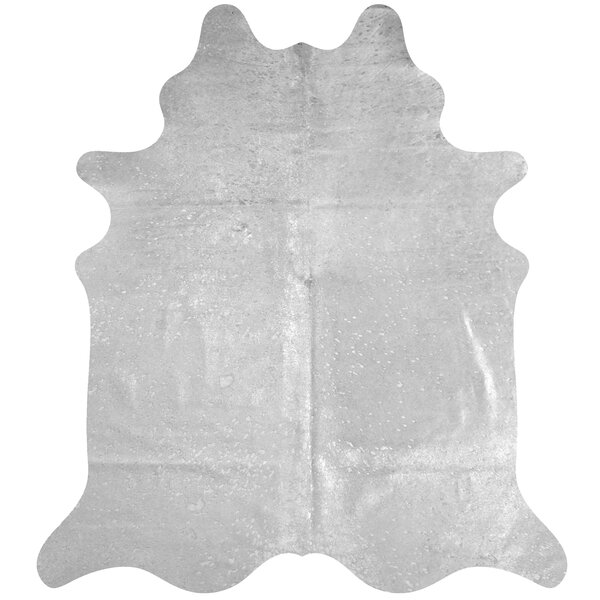 Handmade Cowhide Silver Area Rug by Deco Hides