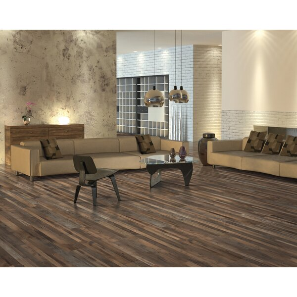 7.5 x 47.25 x 0.3mm Mahogany Laminate Flooring in Painted Timber by Mohawk Flooring