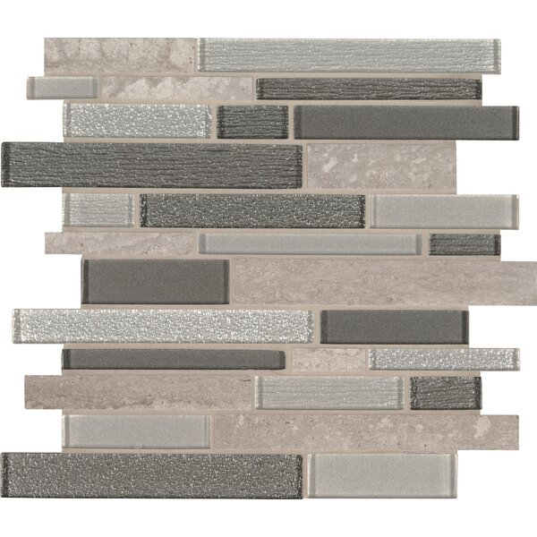 Snowmass Random Sized Glass/Porcelain Mosaic Tile in Gray/Brown by MSI