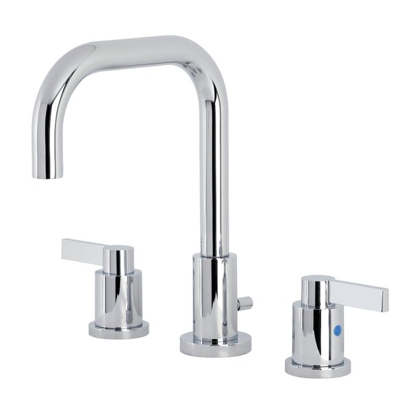 Widespread Bathroom Faucet With Drain Assembly By Kingston Brass