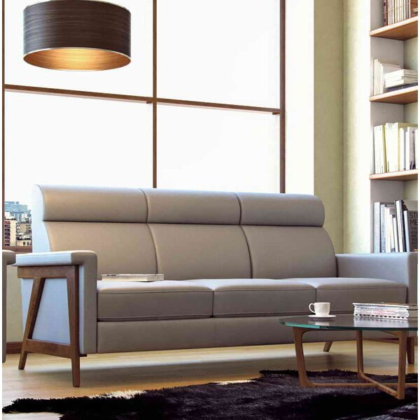 Valuable Today Whelchel Italian Leather Sofa New Seasonal Sales are Here! 65% Off