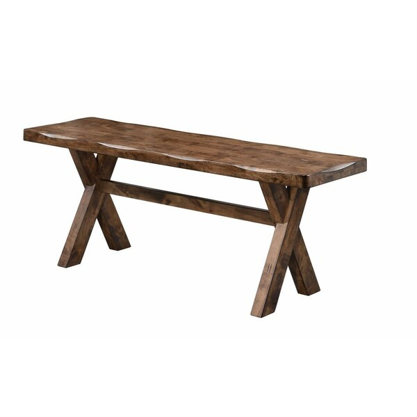 Vansant Trestle Base Wood Bench by Millwood Pines