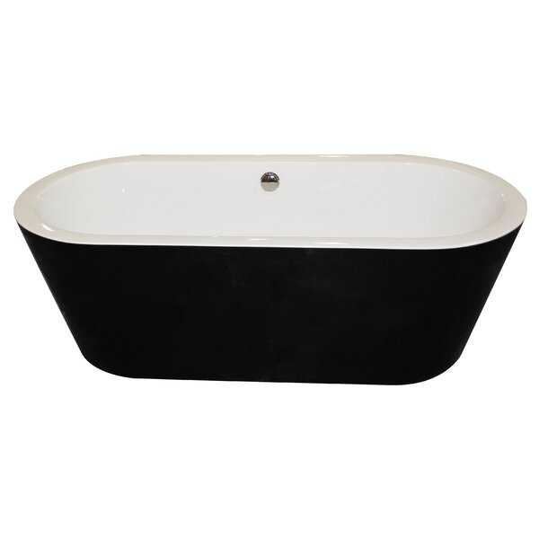 Dualita 66.75 x 31.6 Freestanding Soaking Bathtub by ANZZI