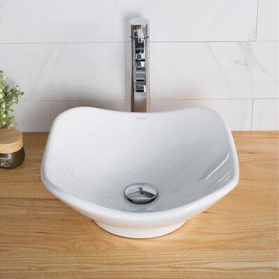 Ceramic Rectangular Bathroom Sink Overflow