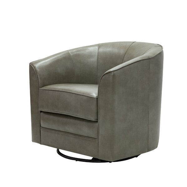 Trenton Swivel Barrel Chair by Modern Rustic Interiors