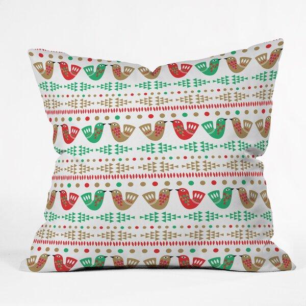 Zoe Wodarz Geo Pop Birds Throw Pillow by Deny Designs
