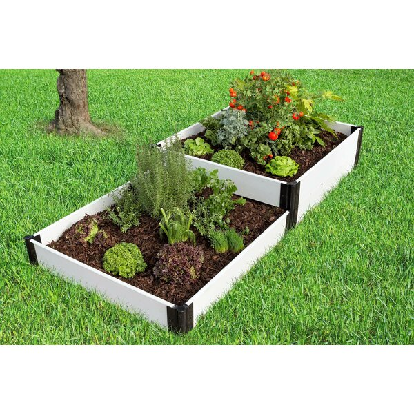 Classic White 8 ft x 4 ft Manufactured Wood Raised Garden by Frame It All