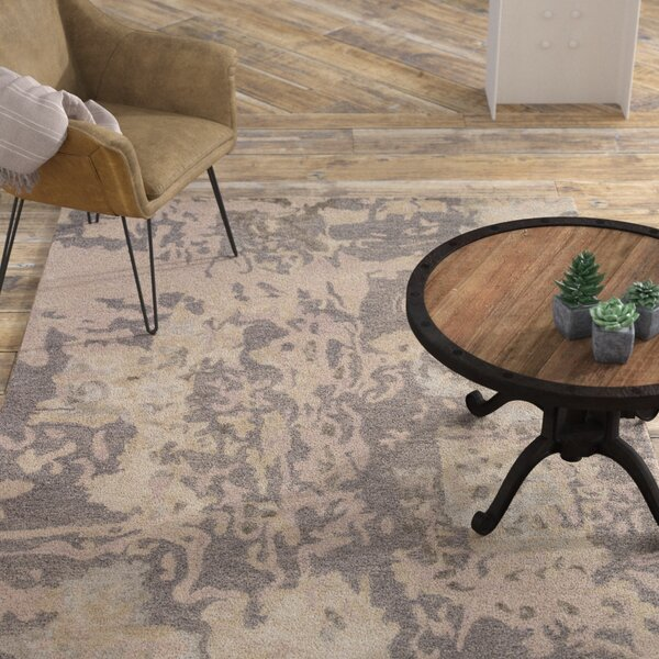 Morias Hand Tufted Gray/Taupe Area Rug by Williston Forge