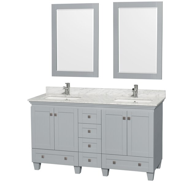 Acclaim 60 Double Bathroom Vanity Set with Mirrors by Wyndham Collection