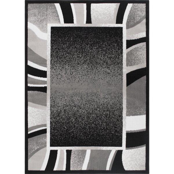 Bear Black/Gray Area Rug by Ebern Designs