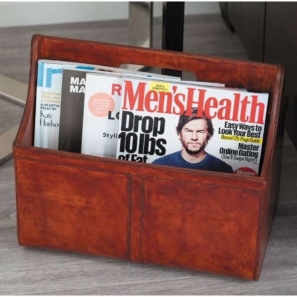 Real Leather Newspaper Holder by Cole & Grey