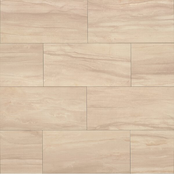 Athena 20 x 40 Porcelain Field Tile in Sand by Bedrosians