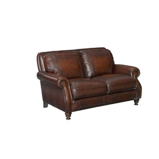 Goldhorn Leather Loveseat by Darby Home Co