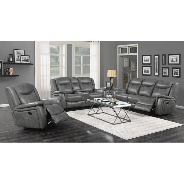 Erico Motion 3 Piece Reclining Living Room Set by Latitude Run