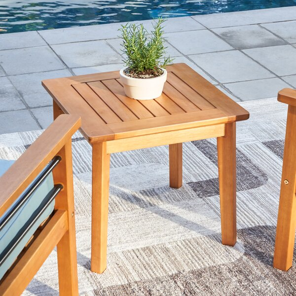 Mcevoy Solid Wood Side Table by Rosecliff Heights
