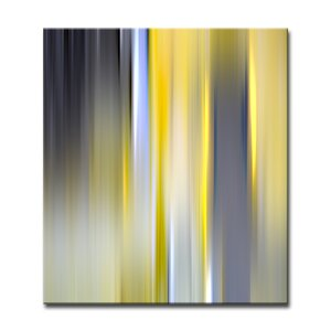 'Blur Stripes VI' Graphic Art on Canvas by Ready2hangart