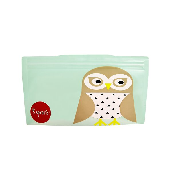 Owl Snack Bag (Set of 2) by 3 Sprouts