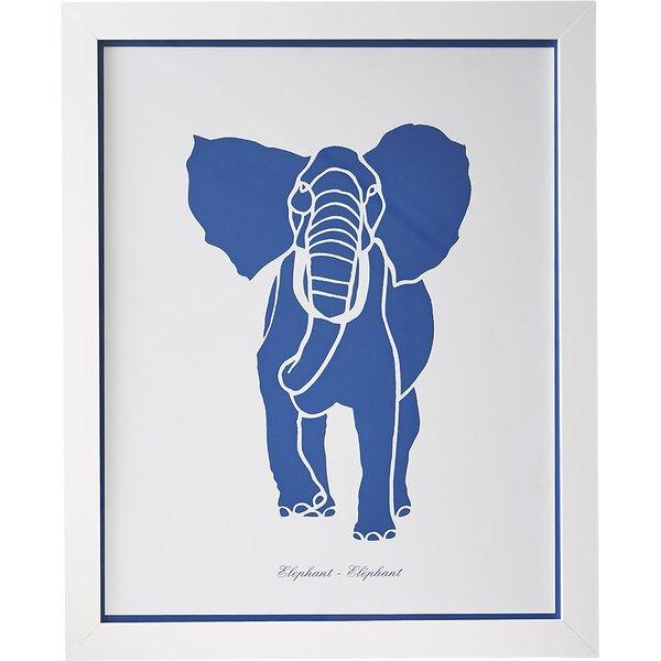 Elephant Safari Run Framed Graphic Art Print by Birch Lane™