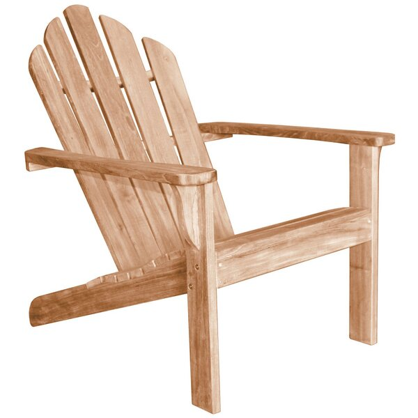 Lakeside Teak Adirondack Chair by Douglas Nance