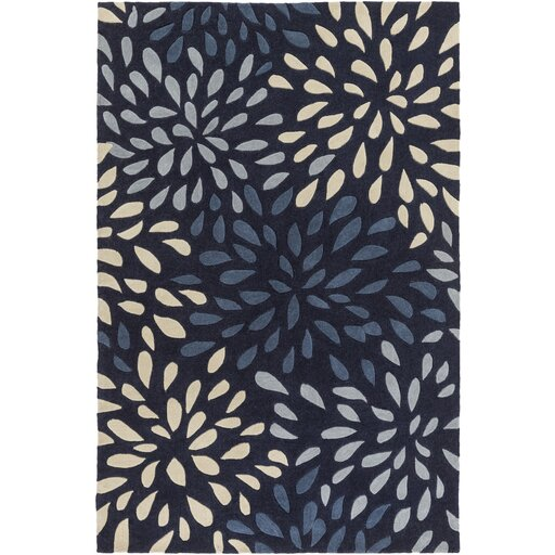Carrie Hand-Tufted Navy Area Rug by Alcott Hill