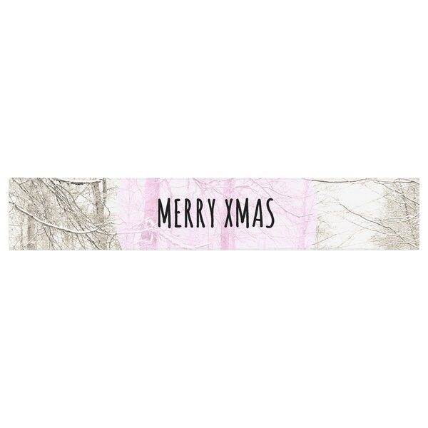 Iris Lehnhardt Merry Xmas Holiday Table Runner by East Urban Home
