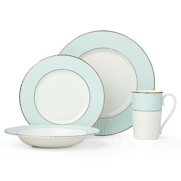 Pleated 4 Piece Bone China Place Setting, Service for 1 by Lenox