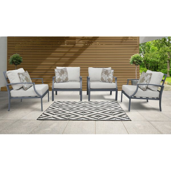Benner Patio Chair with Cushions (Set of 4) by Ivy Bronx Ivy Bronx