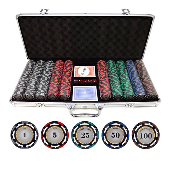 500 Piece Z-Pro Clay Poker Chip by JP Commerce