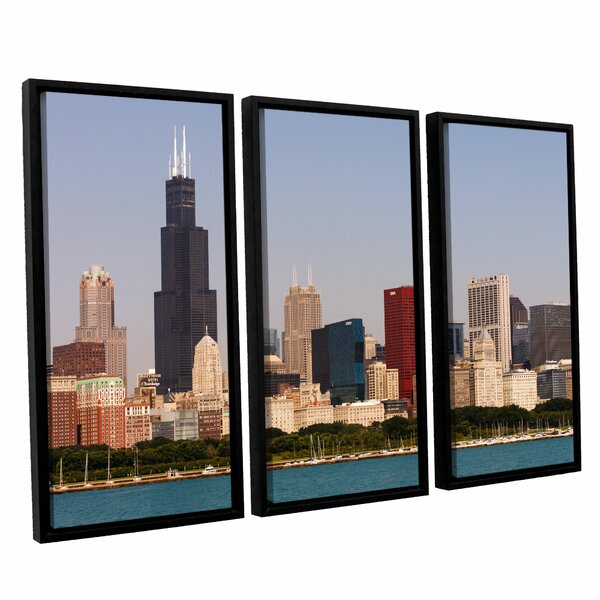 Chicago by Cody York 3 Piece Framed Photographic Print on Canvas Set by ArtWall