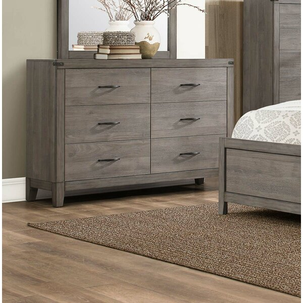 Caughfield Wooden 6 Drawer Double Dresser by Gracie Oaks