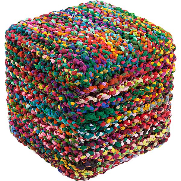 Abdul Rainbow Connection Pouf by Bungalow Rose