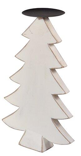White/Black Wood Tree Holder by Loon Peak