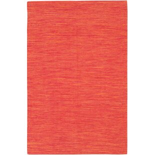 Elbeni Hand Woven Cotton Orange Area Rug By Zipcode Design