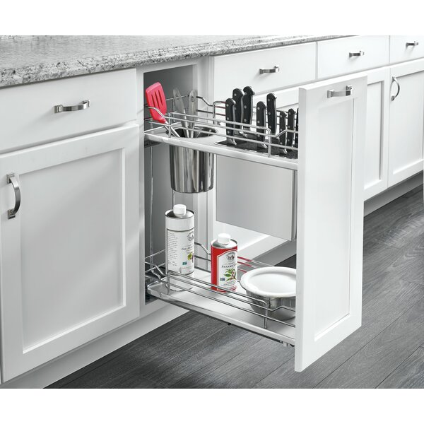 2 Tier Knife Organizer Pull Out Draw by Rev-A-Shelf