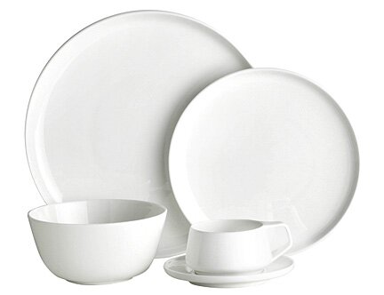 Marc Newson Bone China 20 Piece Dinnerware Set, Service for 4 by Noritake