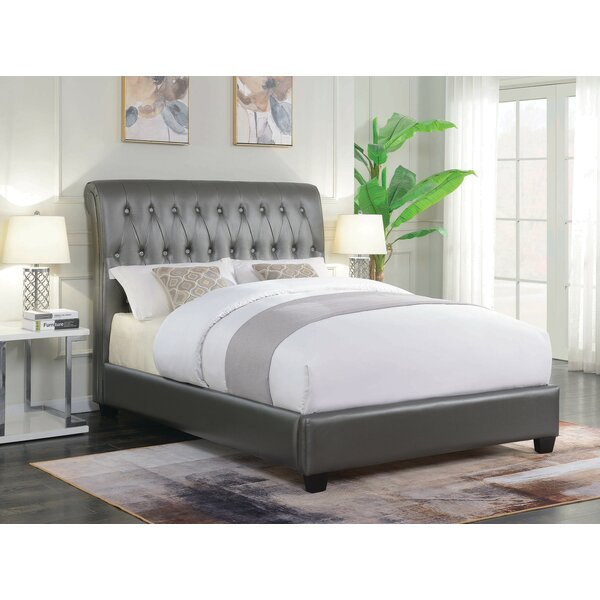 Haverhill Upholstered Sleigh Bed by Everly Quinn