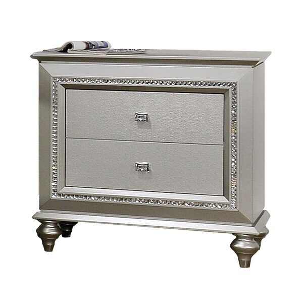 Echols 2 Drawer Nightstand By Mercer41 by Mercer41 Read Reviews