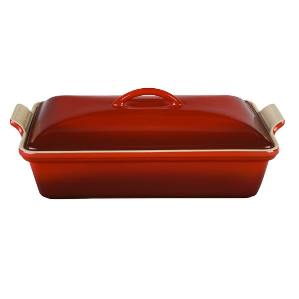 Stoneware Rectangular Heritage Covered Casserole by Le Creuset