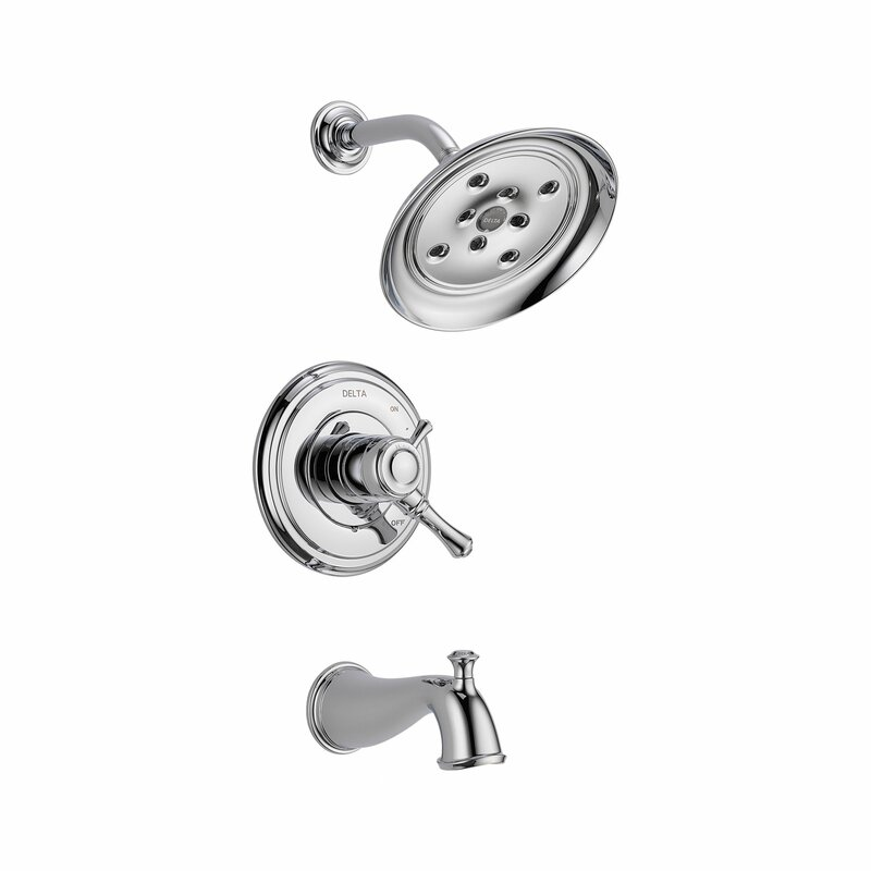 Delta Cassidy Volume Control Tub and Shower Faucet Trim with Lever