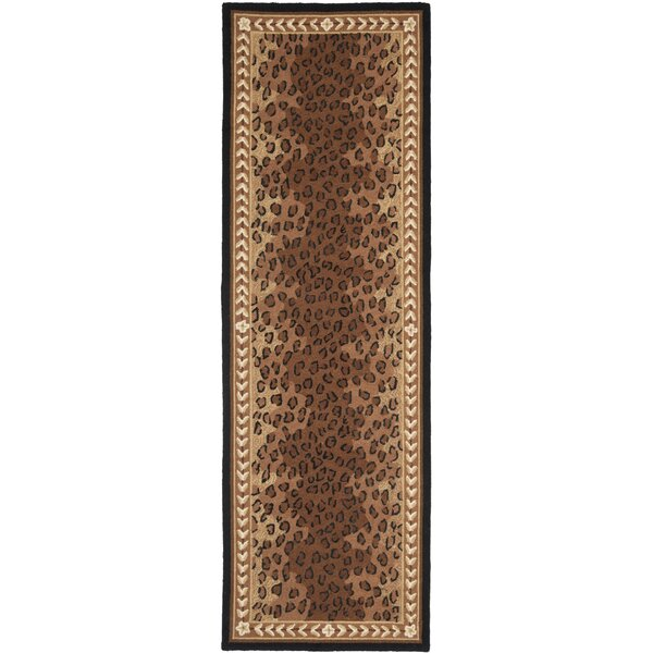 Bridges Black&Brown Area Rug by World Menagerie