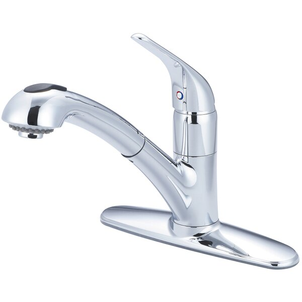 Legacy Pull Out Single Handle Kitchen Faucet by Pioneer
