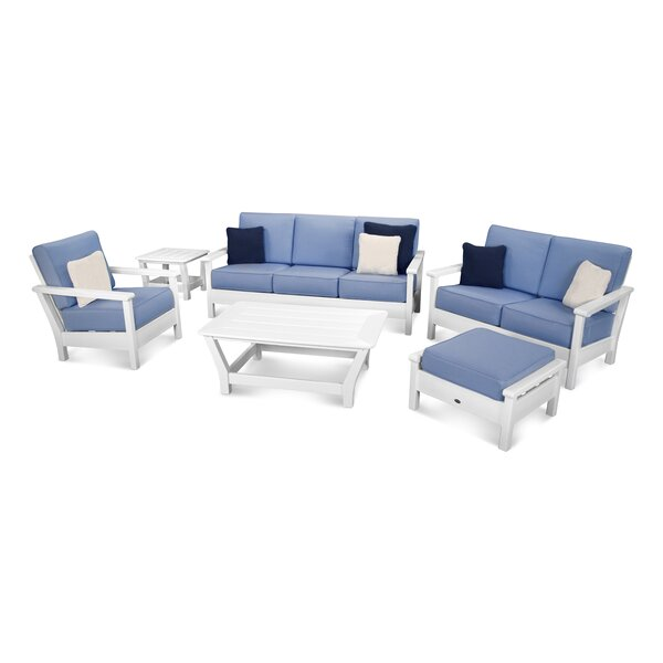 Harbour 6 Piece Sunbrella Conversation Set with Cushions by POLYWOOD®