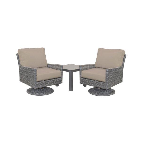 Macklin Glider Deep Seating Group with Sunbrella Cushions by Ebern Designs