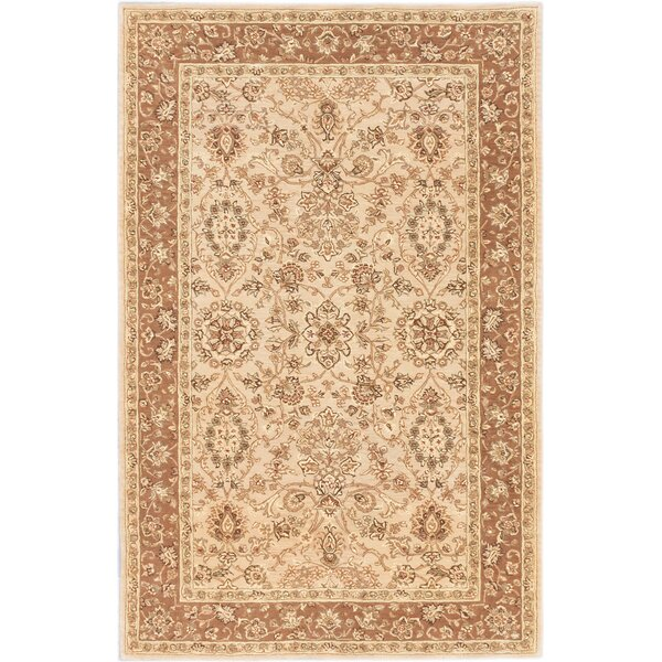Tabriz Hand-tufted Beige/Ivory Area Rug by ECARPETGALLERY